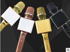 디스코 빛 전화 홀더 KTV Mic 음악 Karaoke 장치를 가진 무선 Karaoke 마이크 SD09 휴대용 Bluetooth 스피커 Mikrofon