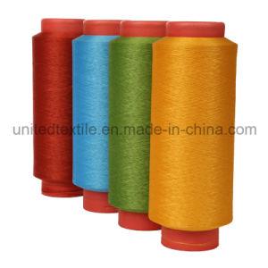 100% lumineux trilobés du filé teints par dopant With150d/48f de polyester il DTY