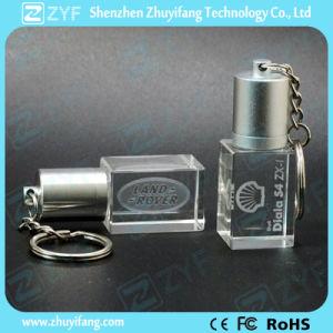 Духи цепочки ключей дизайн кристально чистый флэш-накопитель USB с логотипом (ZYF1522)