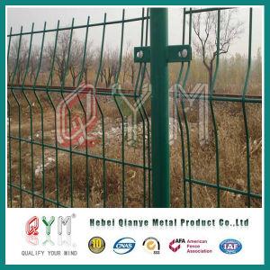 電流を通された鉄の塀のヨーロッパの囲う庭かヨーロッパの囲うパネル