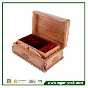 Casella di memoria di legno del retro imballaggio con incisione