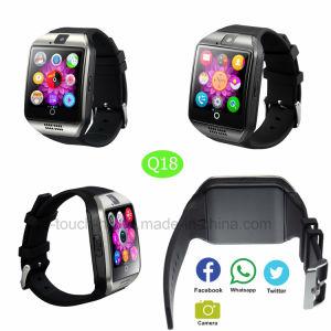 Última moda Hermoso reloj inteligente teléfono celular con cámara Q18