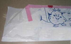 بيضاء [هد] نجم ختم صوف حقيبة مع طباعة