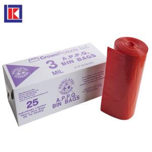 ロールのリサイクルされた屈強で強く大きいCapactityのHDPE/LDPEのごみ袋