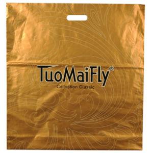 Cuatro bolsas de plástico impreso en color para las prendas de vestir (FLD-8506)