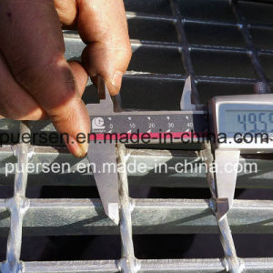 La superficie dentada de acero al carbono de bajo ancho de vía de la escalera Rejilla Barra