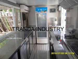 大規模の食糧ピザトレーラーのフードプロセッサのレストランのトラック