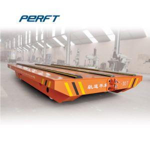 Carrinho de transferência de plataforma eléctrica montada sobre carris