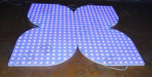 Spezieller Sektor Unnewest konzipierte 60*60cm das bewegliche interaktive runde Secique die Form-Hochzeits-Stadium, das RGB LED Dance Floor leuchtet