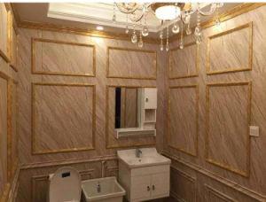 25cm 2.8kg India Popular Interior de PVC paneles de techo de madera laminada
