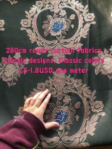 280cm Ширина жаккард шторки ткань готов товаров