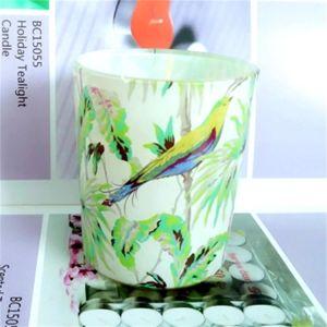 Jarra de vidrio vela perfumada con alta calidad de los más populares