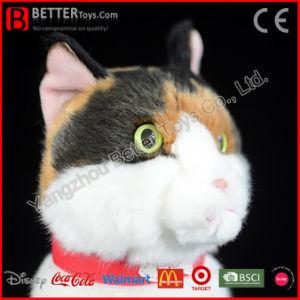 Giocattolo molle realistico dell'animale farcito del gatto della peluche dell'OEM per i capretti del bambino