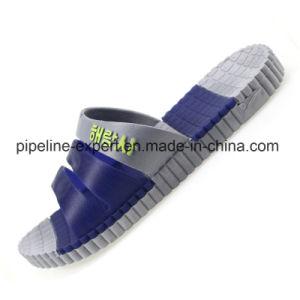 Custom sandale Diapositive Lucite Footbed Jelly Chaussures femmes pantoufle transparent en PVC