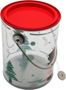 Novo Produto Estanho PVC /PVC Caixa de estanho/PVC balde de estanho