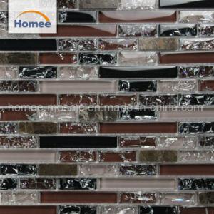 Het hete Mozaïek van de Muur van het Glas van de Steen van de Streep van het Hotel van de Verkoop Purpere Zwarte