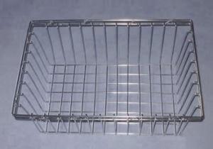 ステンレス鋼の殺菌の金属線の網のケージの皿のバスケット