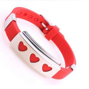 Venda por grosso de publicidade promocional Silicone bracelete de Metal