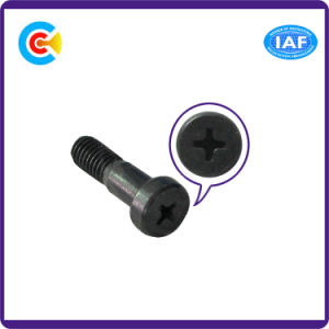 Aço carbono de zinco preto/4.8/8.8/10,9 Parafuso com Cabeça Redonda M12 Parafusos cruzada