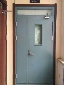 Prueba de fuego de una sola puerta de metal de la puerta de la puerta exterior de acero