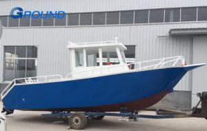 7.0M 23FT plein cabine à toit rigide en aluminium soudé Bateau de pêche en mer