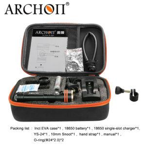 Venta caliente Ce&RoHS Archon W17V-II 1200 lúmenes de fotografiar Snoot gran angular de la fotografía Macro Buceo Buceo Linterna Antorcha para Macroshot