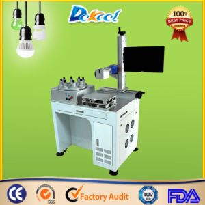 Macchina della marcatura del laser della fibra di CNC della lampadina di Dekcel LED di alta precisione