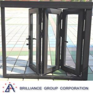 Aluminium, das faltendes Balkon-Fenster schiebt