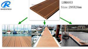 Verde e Eco-Friendly Marine WPC deck com o selo FSC, ISO, certificação CE