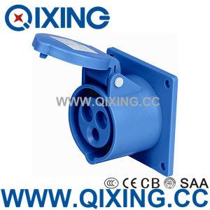 Type droit bleu Cee Socket monté sur panneau