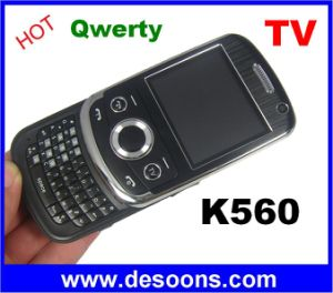 K560 JAVA TV che fa scorrere le carte QWERTY del telefono mobile due