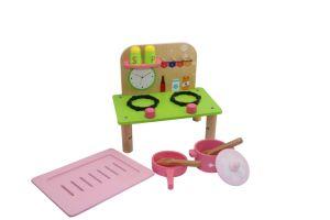 Het houten Leuke Stuk speelgoed van de Keuken met het Koken van Potten