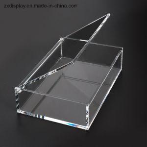 Casella impaccante del regalo di memoria acrilica libera su ordinazione della visualizzazione con il coperchio