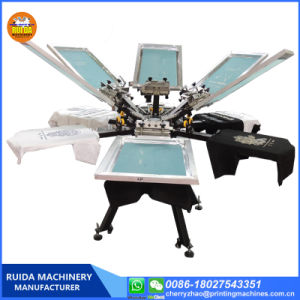 Ns606 - Руководство по ремонту 6 цветов на экране шелк ручной установки принтера