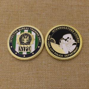 Moneta Detective laterale di Nypd di abitudine due con il bordo della corda