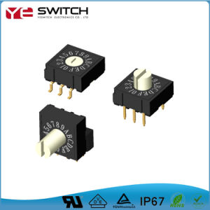 1-16 de Pólo Único elétrico de posição do interruptor de alimentação Miniatura Universal DIP do Botão do Interruptor rotativo para forno