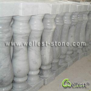 De de Poolse Witte Marmeren Balustrade Guangxi/Baluster van de overvloed voor de Gang van de Trede van de Zaal