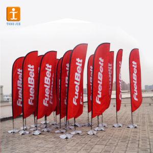 폴리에스테 비행 바닷가 기치 깃발 (TJ-05)를 광고하는 기털 깃발