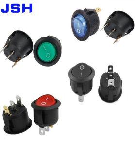 Vermelho Verde Azul Preto luz LED 20mm ao redor do interruptor oscilante 240/220V pino 3 ligado/desligado