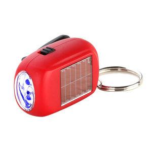 Main Mini Crank Dynamo Lampe de poche LED Lanterne solaire en plastique le trousseau