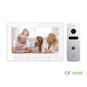 De Veiligheid van het huis 7 Duim van Deurbel 4 de Intercom VideoDoorphone van Draden