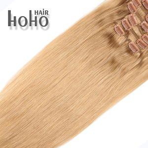 De bruine Klem van 20 Duim in het Menselijke Haar van de Uitbreidingen van het Haar