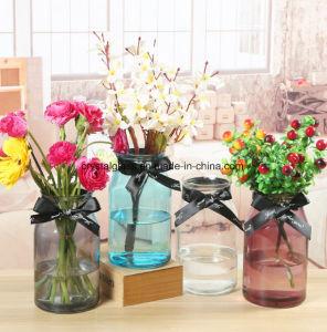 Nouveau mode de couleur Vase en verre à col large pour la vente