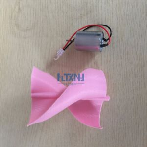 Il colore dentellare, il micro motore piccolo LED di CC illumina il mulino a vento verticale del generatore di vento dell'insieme completo DIY delle lamierine del generatore di turbina del vento di asse