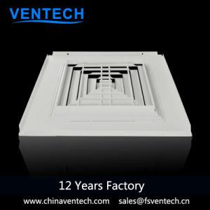 中国製Ventechのアルミニウム4方法正方形リターン空気拡散器