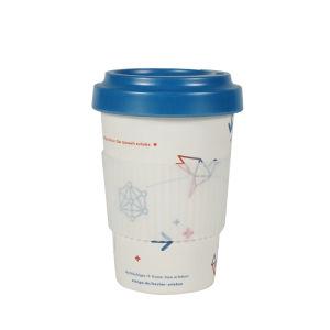 Fibra vegetal orgánica Non-Disposable taza de café de bambú con la impresión