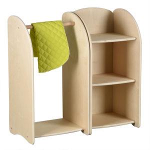 Jardim de Infância de alta qualidade, conjunto de móveis de madeira para crianças armário de brinquedo e suporte cabide