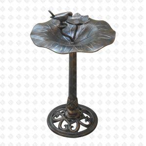 Mobilier en aluminium moulé de meubles de jardin Élément décoratif Birdbath