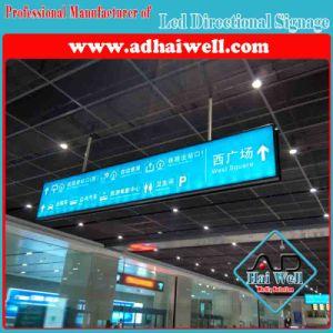Aeroporto che appende la visualizzazione della casella chiara del contrassegno di senso del LED