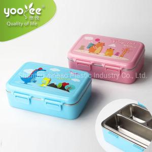 2019 Novo Lunchbox plástico com aço inoxidável bagagens melhor qualidade à prova de vazamento Caixa Bento para crianças